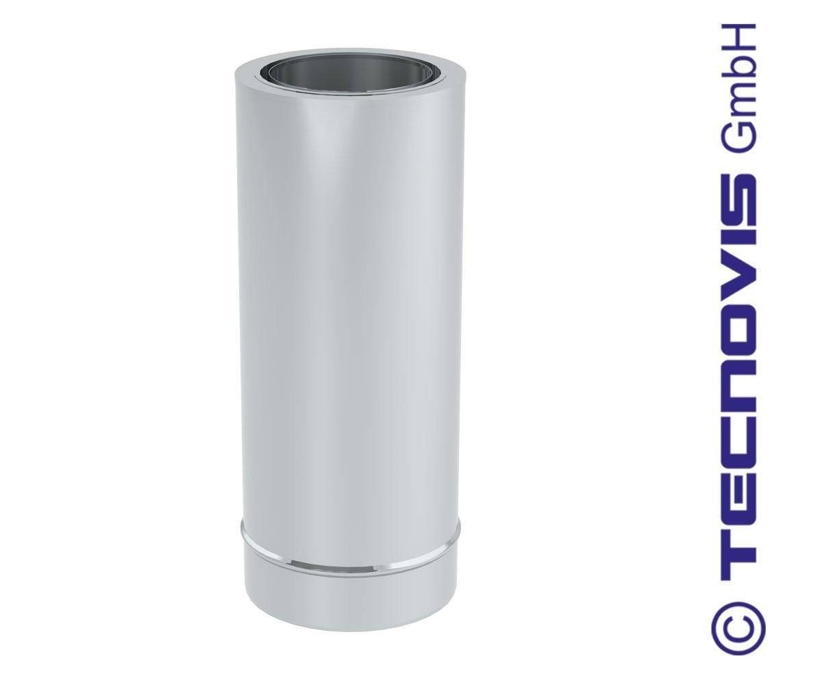 Aansluiting dikwandig staal 180 mm naar dubbelwandig; met nisbus. h= 44 cm